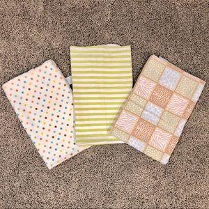 5/$25 Bundle of 3 gender neutral baby blankets